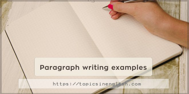 Paragraph writing examples