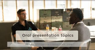 Oral presentation topics